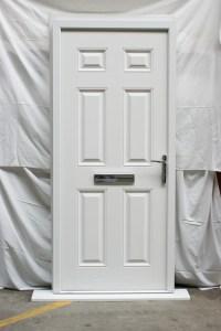 Victorian Left Hand White Composite Front Door | Flying Doors