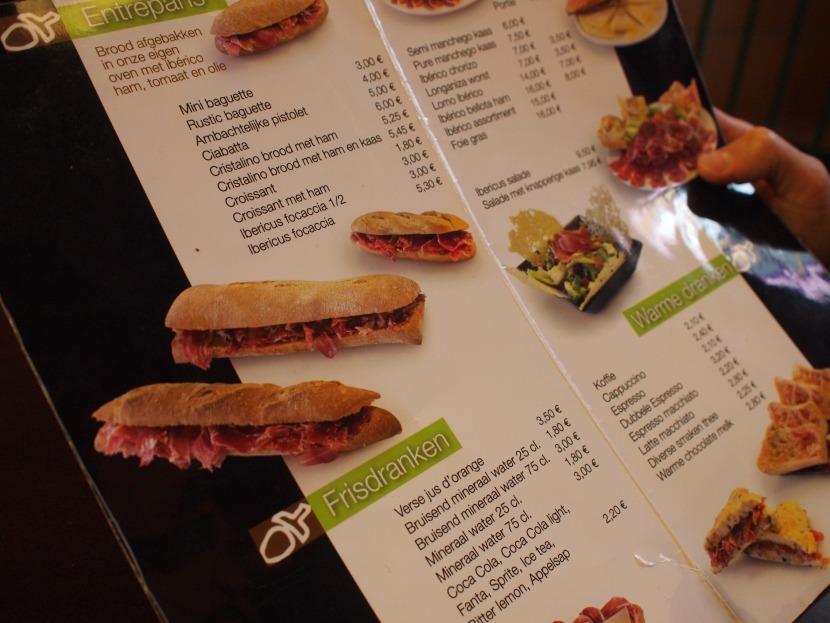 Ibericus menu