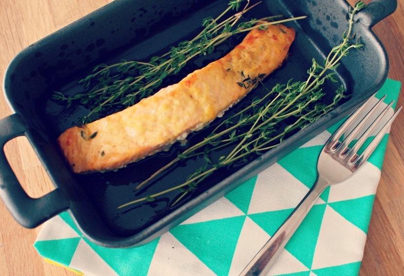Zalm met simpele mosterd marinade