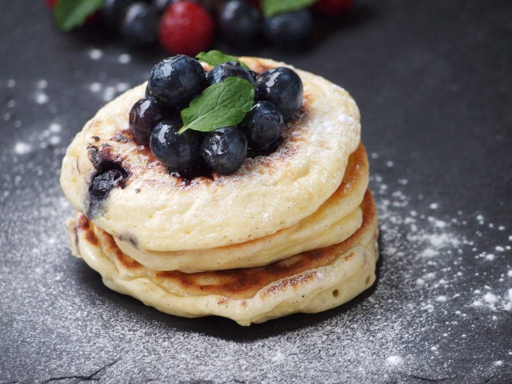 Recept Blueberry pancakes amerikaanse pannenkoekjes
