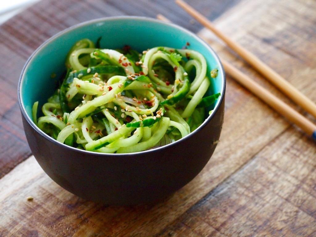 Recept Aziatische komkommer salade