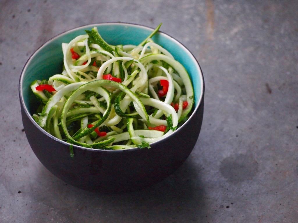 Recept pittige courgette salade