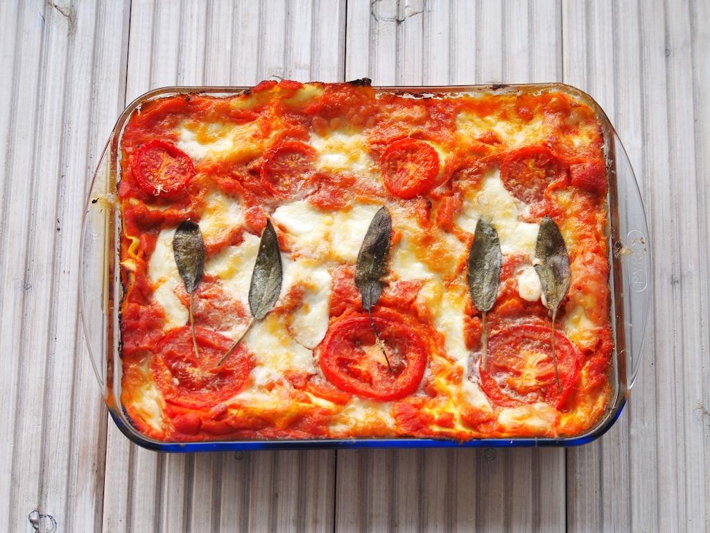 pompoen lasagne met salie