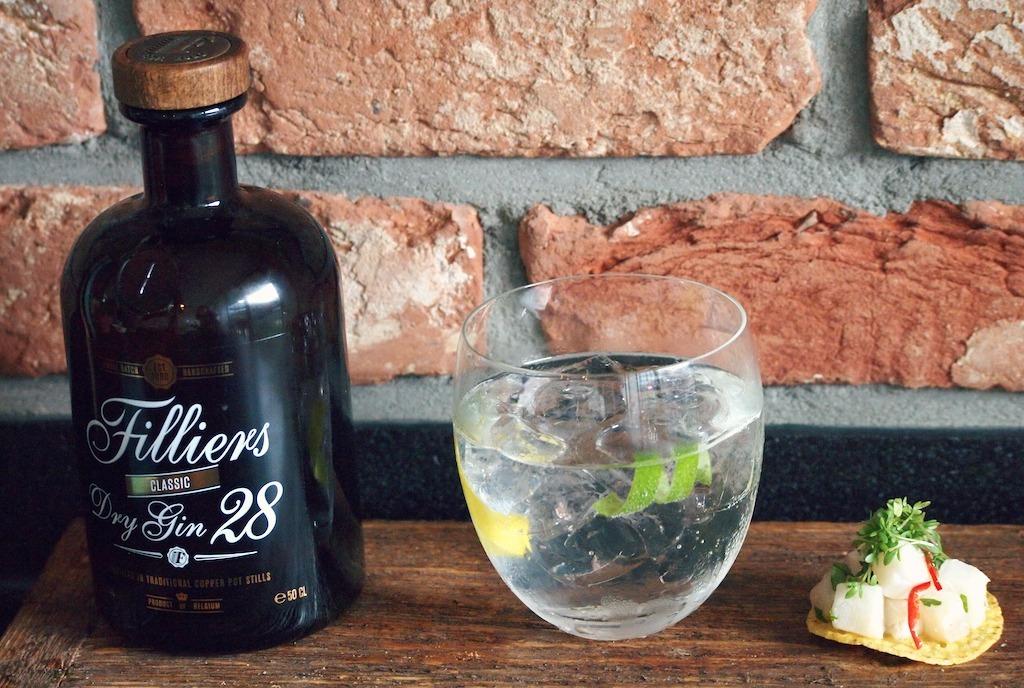 Sterkte drank met eten combineren Filliers Gin