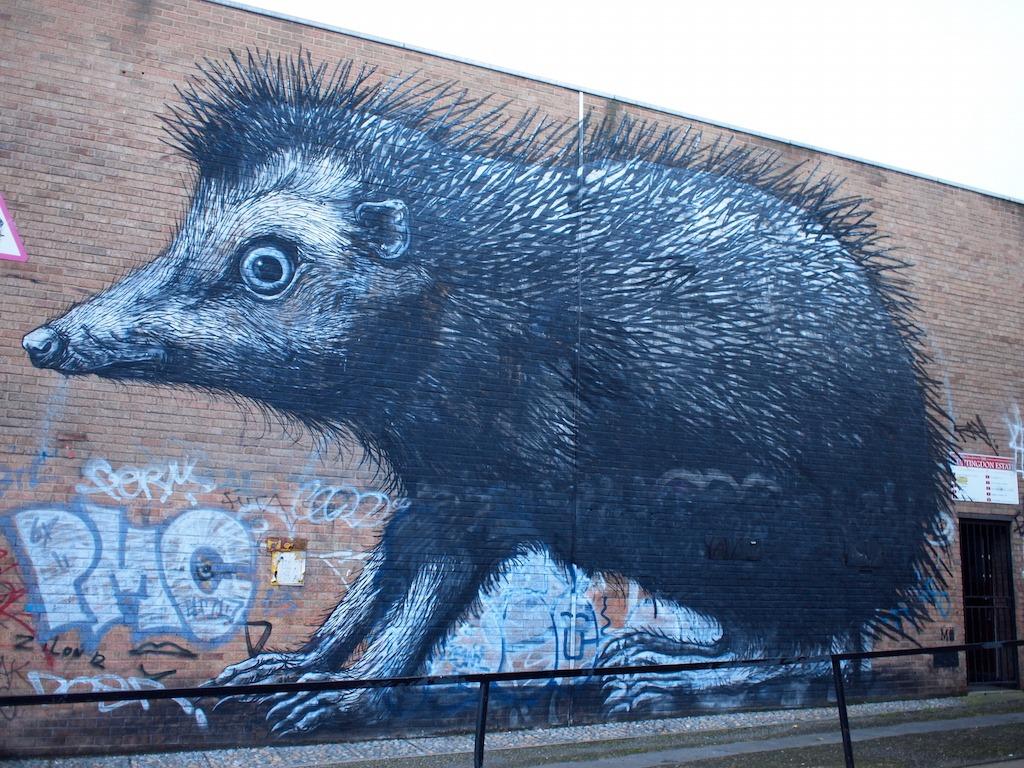 Street art Londen Shoreditch 2016 Roa