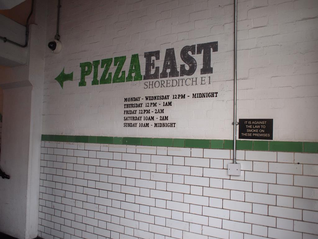 Hotspot Shoreditch Pizza East tot laat open