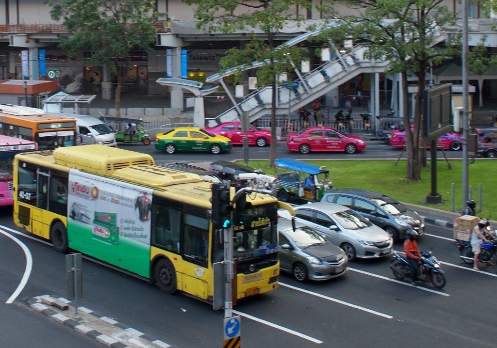 Vervoer Bangkok Scooter taxi