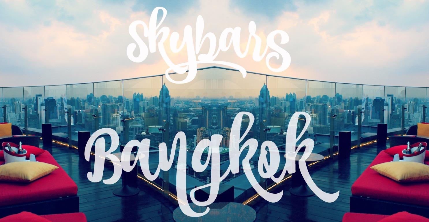 Skybar Bangkok Rooftopbars Best views of Bangkok Thailand Asia
