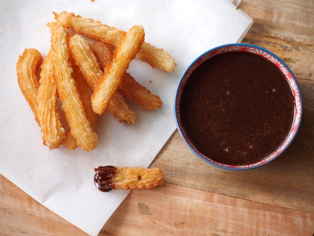 Churros met Nutella saus recept