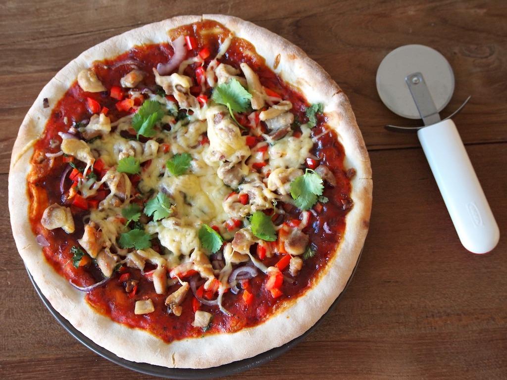 Recept chicken bbq pizza