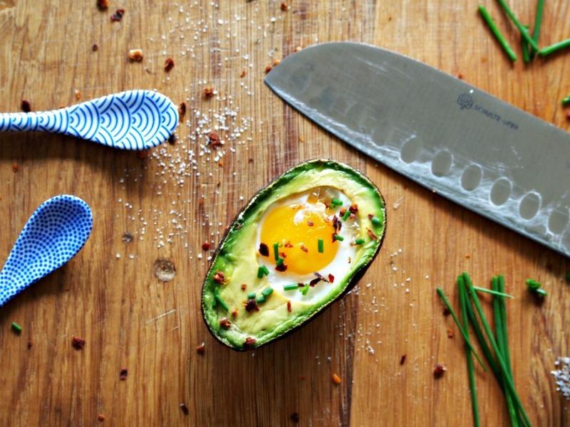 avocado en ei uit de oven