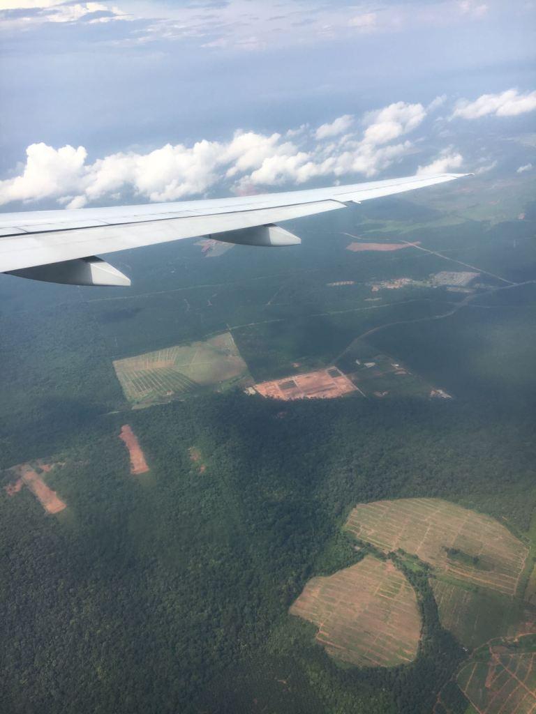 Uitzicht vanuit vliegtuig