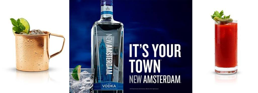 Cocktails met New Amsterdam vodka