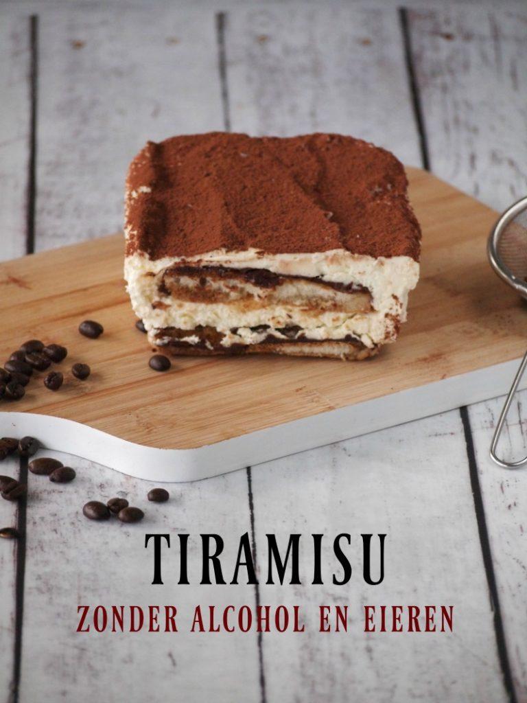 Tiramisu zonder alcohol en eieren