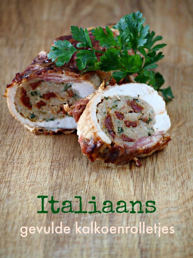 Italiaans gevulde kalkoenrolletjes