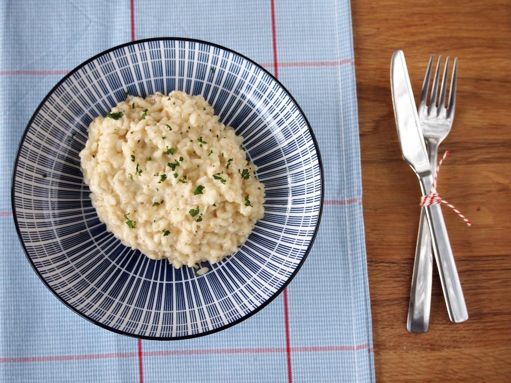 Truffel risotto met prosecco