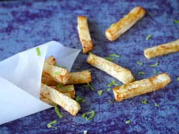 Knolselderij frietjes uit de oven