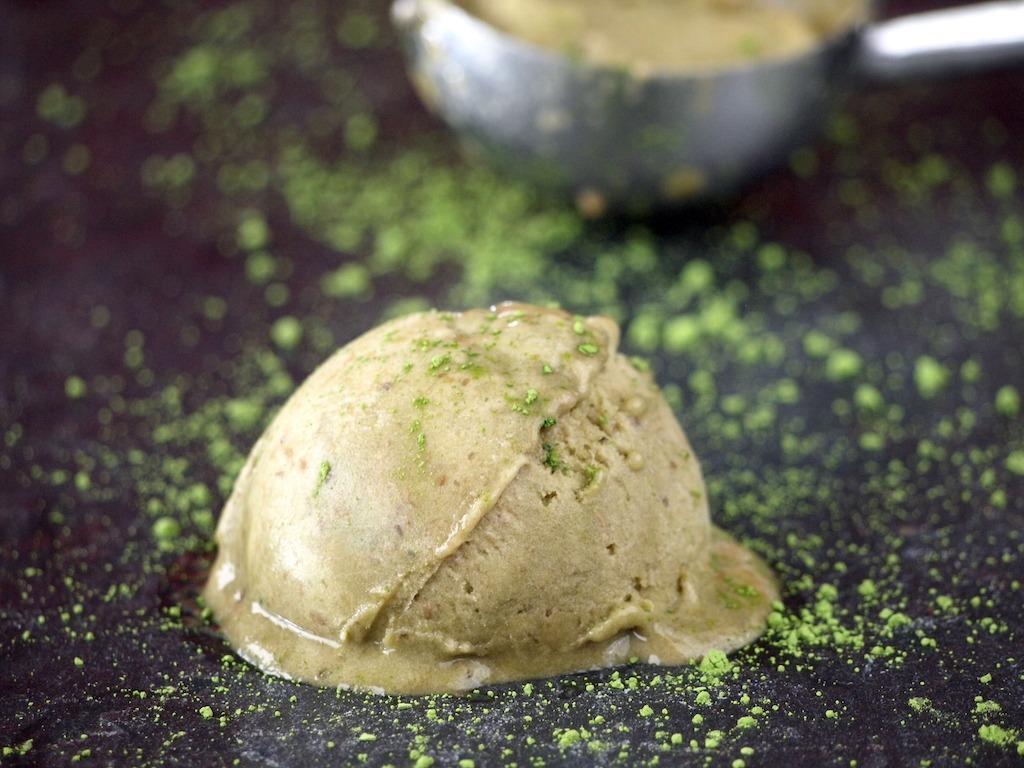 Suikervrij Groene thee matcha ijs