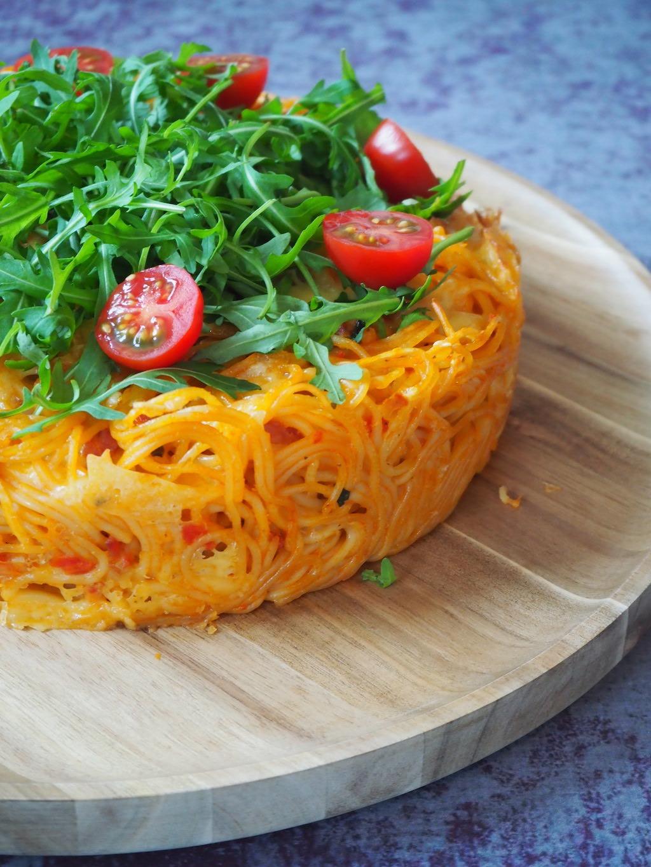 spaghetti taart