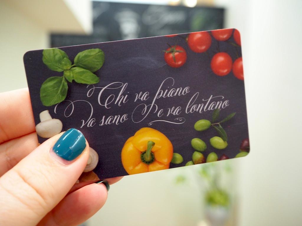 Vapiano betaalkaart systeem
