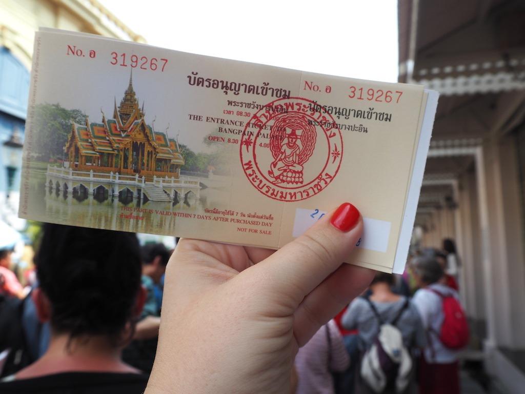 Toegangskaartje the grand palace Bangkok