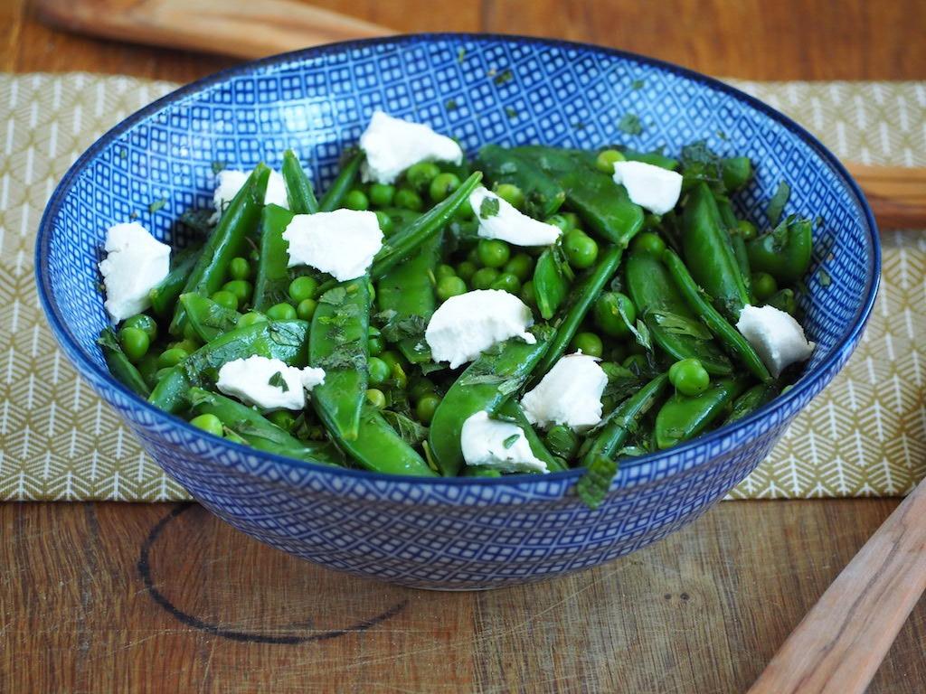 Fris groene doperwtensalade