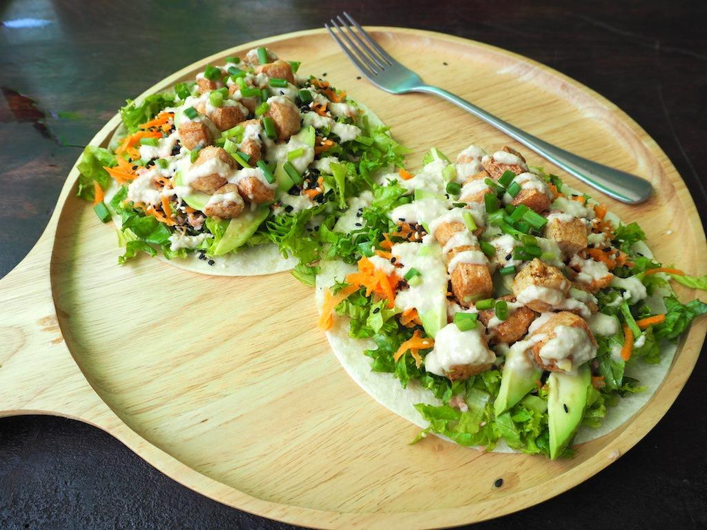 vegetabowl koh tao vegan taco