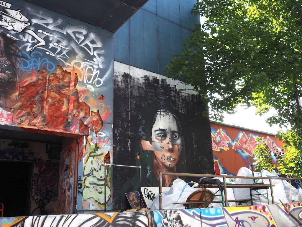 Streetart bij teufelberg Berlijn