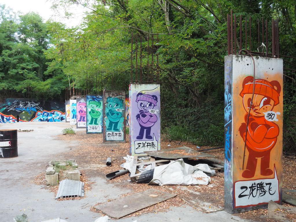 Teufelsberg Berlijn Streetart panda