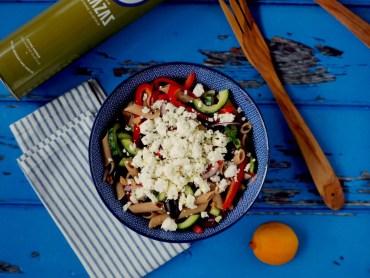 Koolhydraatarme griekse pastasalade