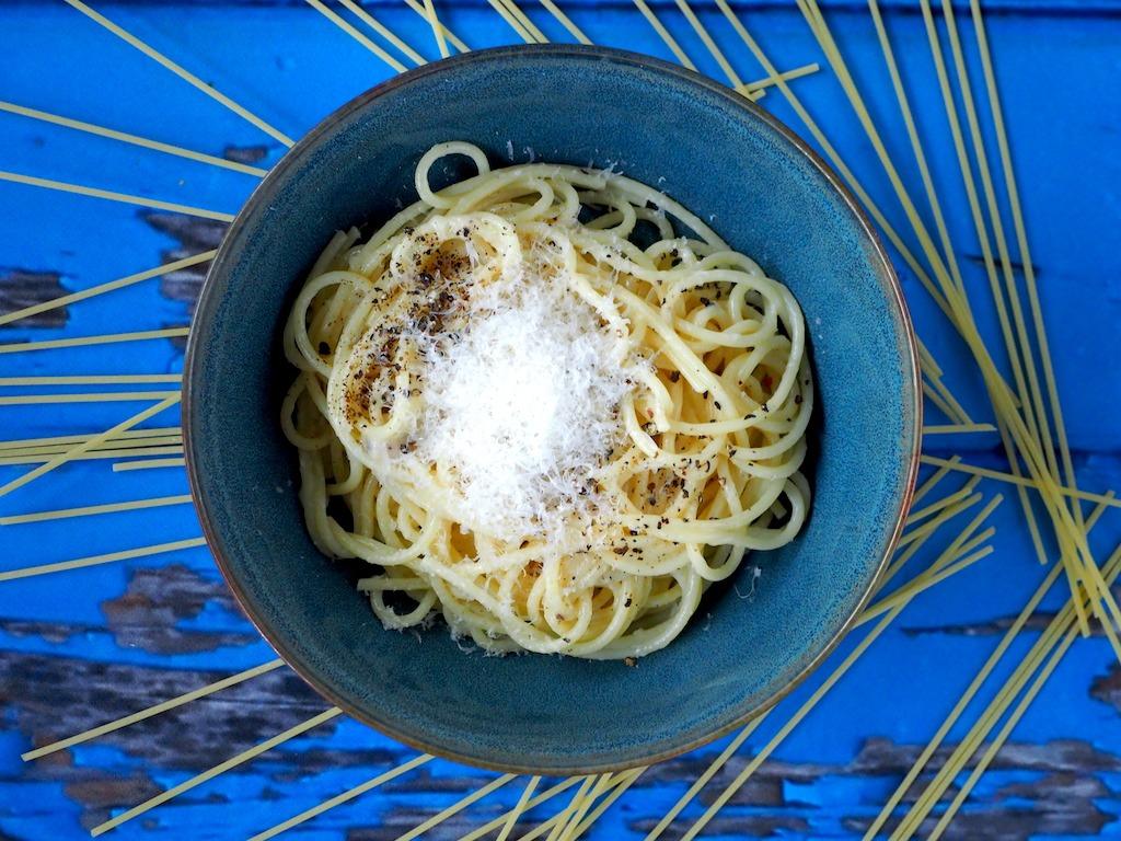 Italiaanse kaas peper pasta