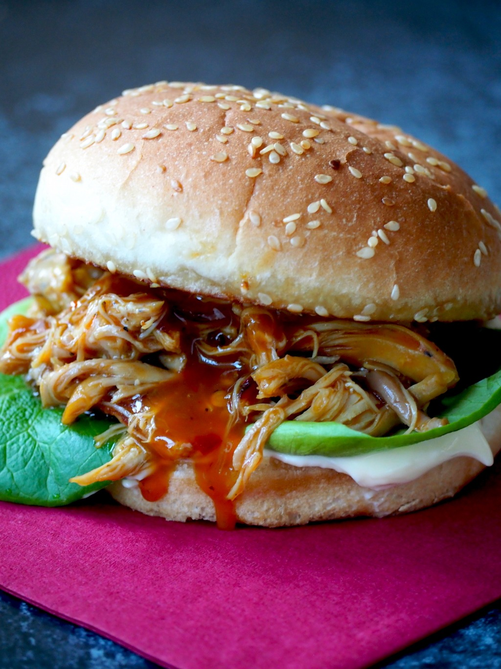 Lazy BBQ pulled chicken instant pot