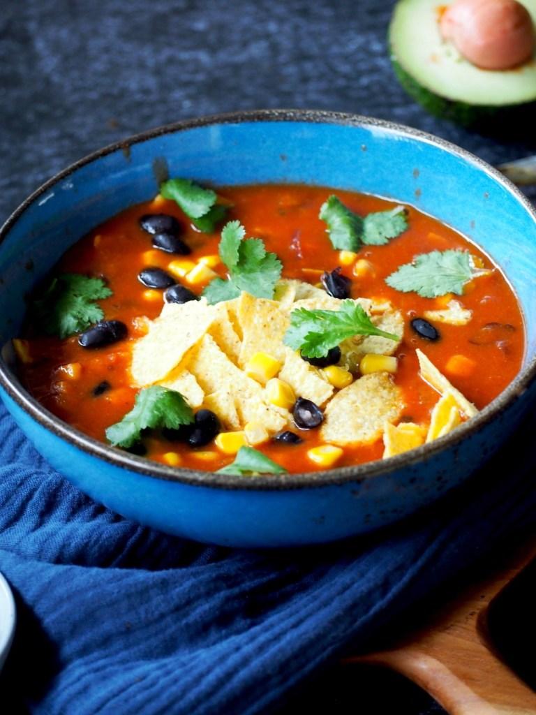 Mexicaanse nacho soep