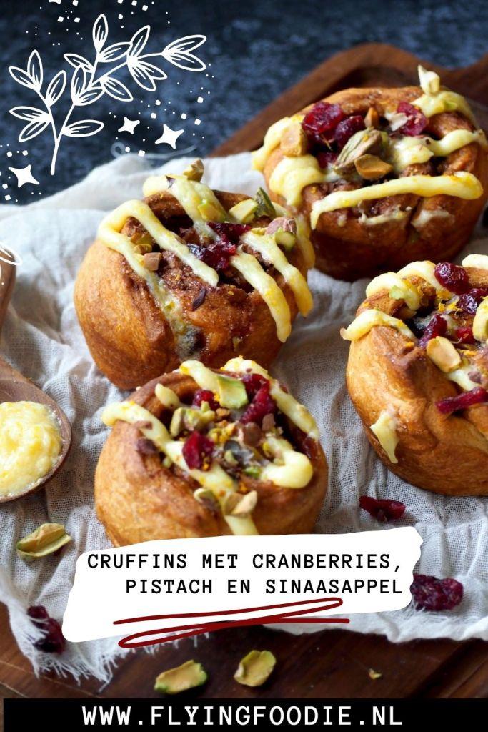 Kerst cruffins met cranberries pistache en sinaasappel