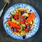 Hummus bowl met gegrilde groente