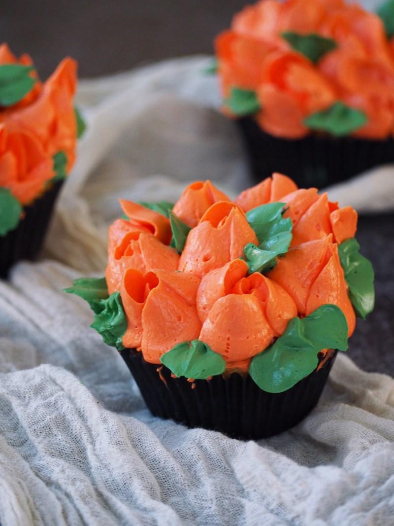 Oranje cupcakes met sinaasappel 1