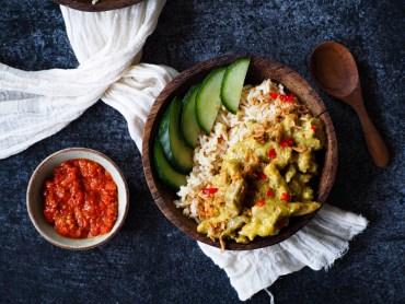 Kippendijen rendang recept