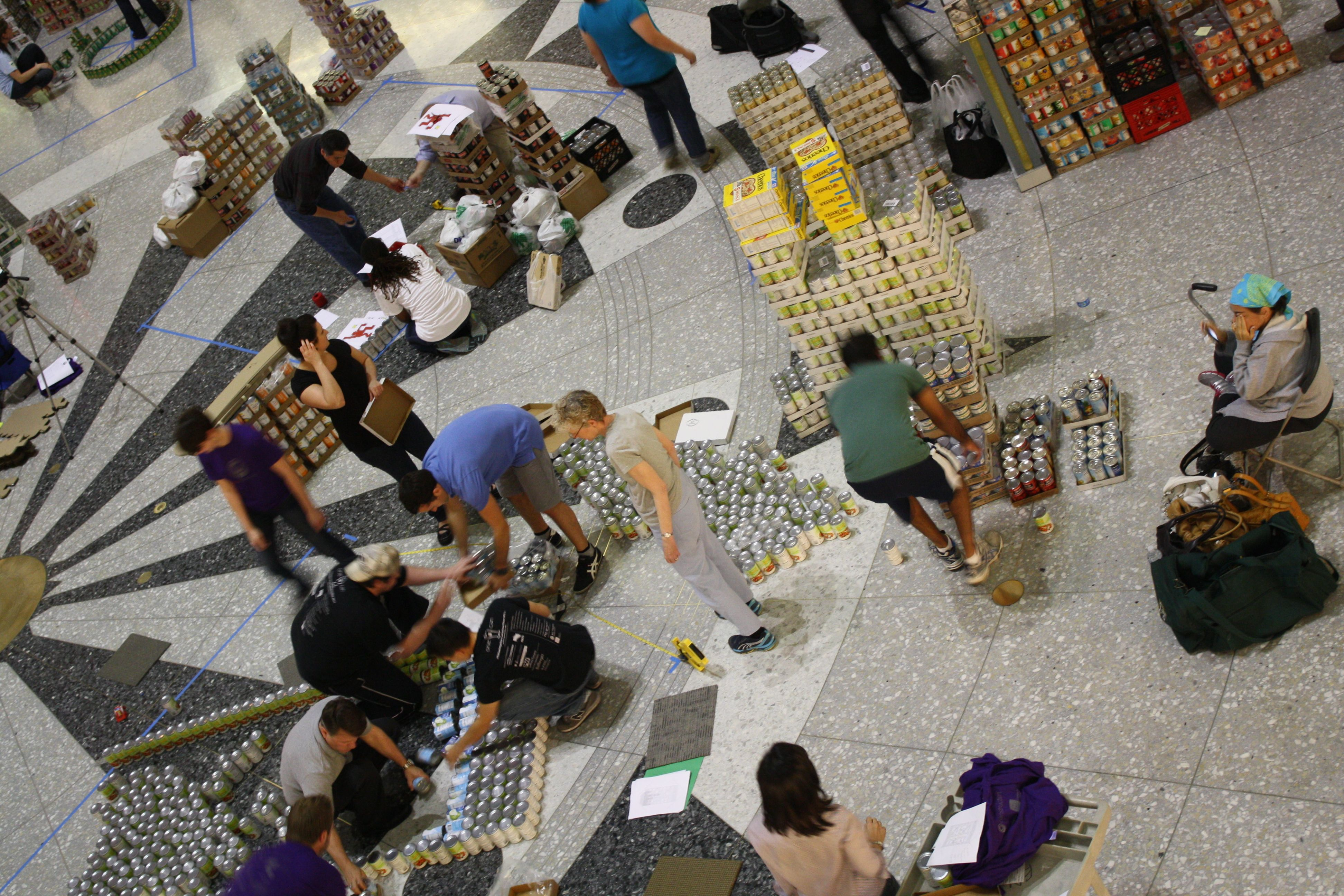 Associate Aia's Canstruction Builds On The Idea Of A Traditional Food Drive