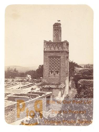 Morocco Mosque near Rabat Old Photo 1880
