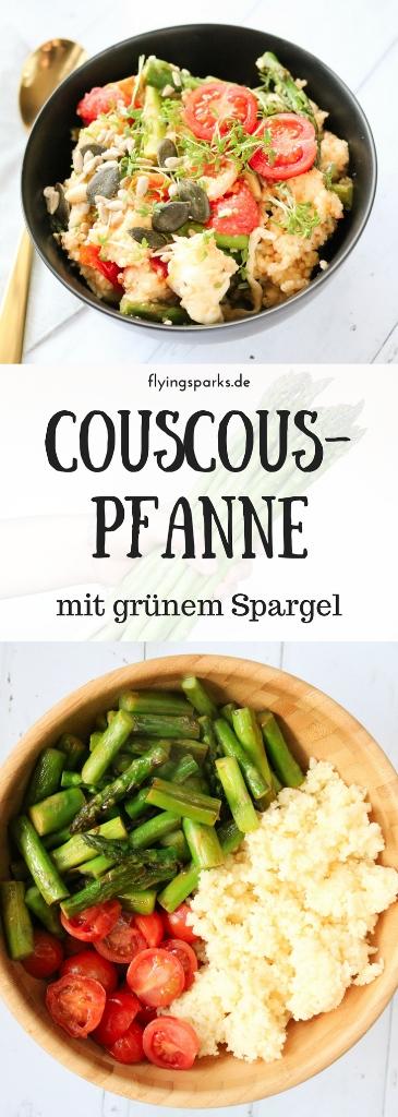Couscouspfanne mit grünem Spargel | quick, easy & informative