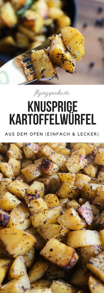 Knusprige Kartoffelwürfel aus dem Ofen (einfach & lecker) Pinterest