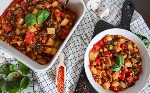 Veganer Kartoffel-Linsen-Eintopf