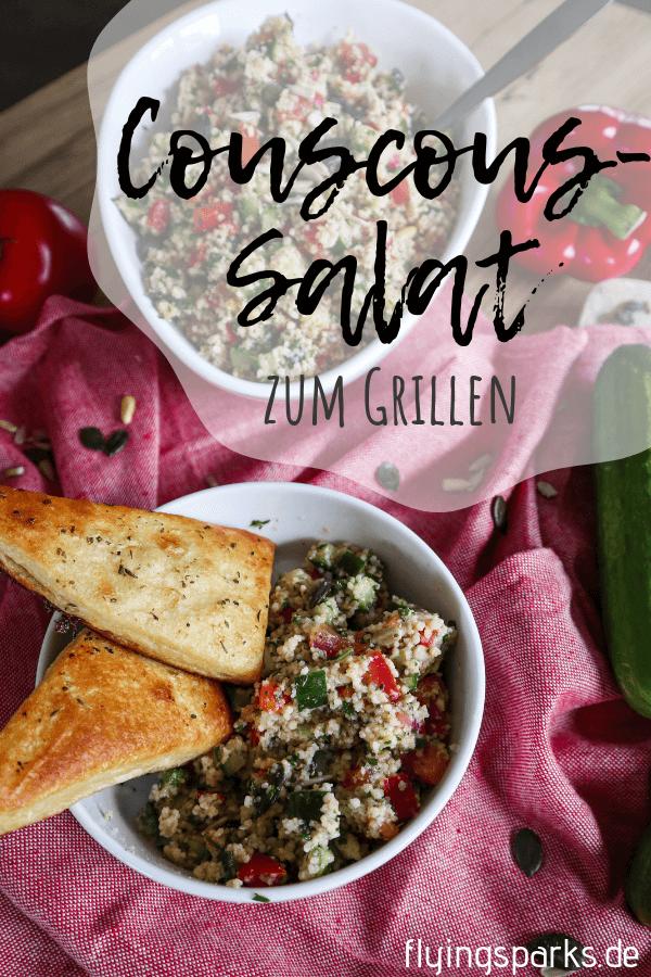 Einfacher und erfrischender Couscous-Salat zum Grillen, Salat, Couscoussalat, salad, grilling, Zitrone, Gemüse, Paprika, vegetarisch, vegetarian, vegan 2
