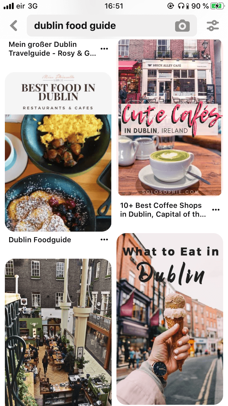 7 Must-Have Apps fürs Reisen, Pinterest Dublin Food Guide