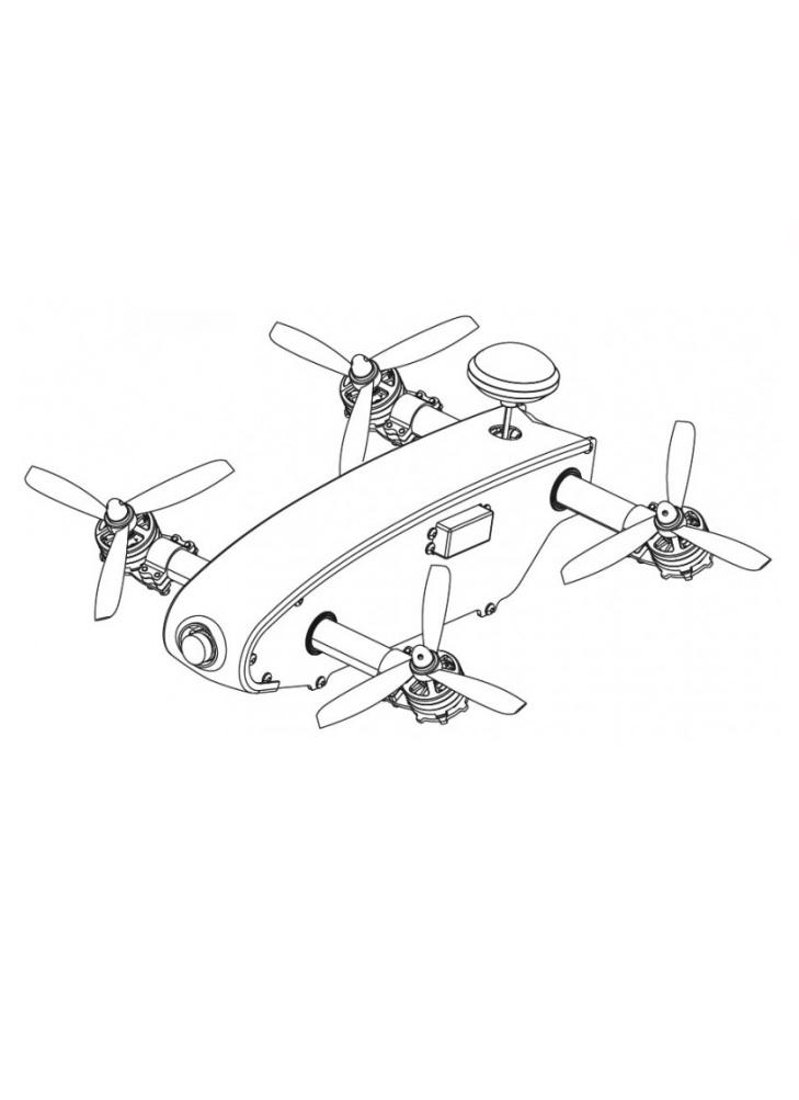 SkyRc Osprey RTF Tilt Rotor FPV Drone with FlySky FS-i6s