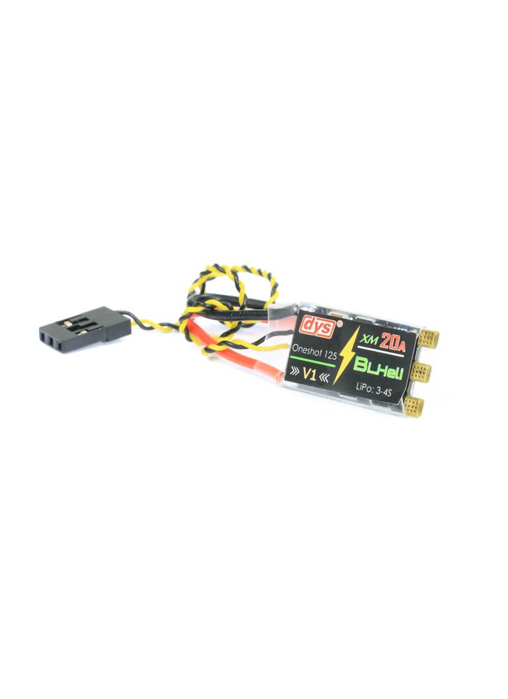 DYS XM20A V1 BLHeli 3-4S 20A OPTO Mini ESC with Solder
