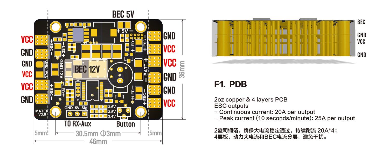12v light switch wiring diagram electric scooter throttle matek 5 in 1 led & power hub v3 pdb with 5/12v bec buzzer | flying tech