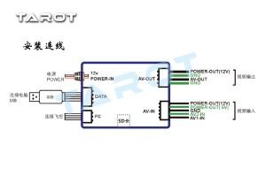 Tarot ZYXOSD Video Overlay System for ZYXM FC TL300C   Flying Tech