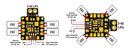 small resolution of matek xt60 pdb esc connections