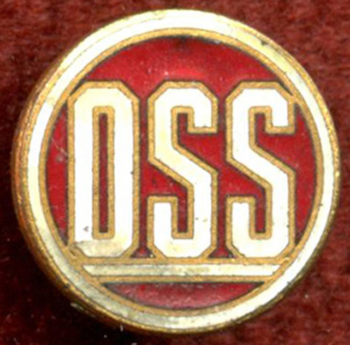 Grouping To WWII OSS Officer Thomas M Davies Lapel Pin